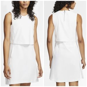 NEW Nike Flex Ace Tennis/Golf Dri Fit White Dress